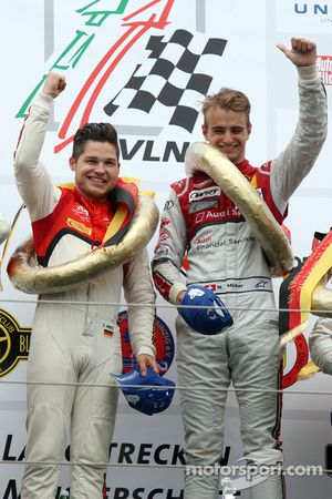 Winners Christopher Mies and Nico Müller Audi Sport Team WRT