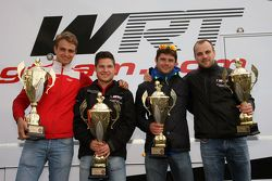 Second place Pierre Kaffer and Laurens Vanthoor and winners Christopher Mies and Nico Müller, Audi Sport Team WRT