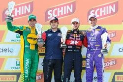 Podium Race 1: Marcos Gomes, Daniel Serra, and Julio Campos