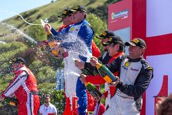 Podium Champagne celebration