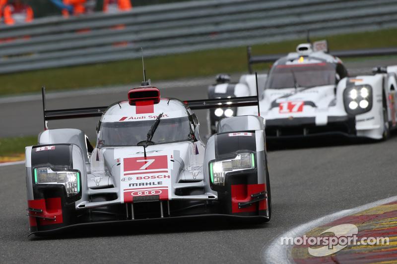 #7 奥迪运动车队,奥迪R18 e-tron quattro Hybrid: Marcel Fassler, Andre Lotterer, Benoit Treluyer