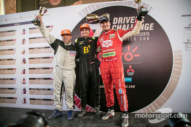 Podium: Ricardo Dasso, el ganador, Nelson Piquet Jr. y Nicolas Fuchs