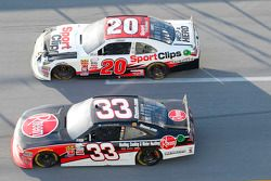 Austin Dillon, Richard Childress Racing Chevrolet and Erik Jones, Joe Gibbs Racing Toyota