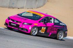 #44 CRG, Honda Civic Si: Sarah Cattaneo, Owen Trinkler