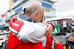 Dr. Wolfgang Ullrich,, Audi's Head of Sport and Mike Rockenfeller, Audi Sport Team Phoenix Audi RS 5