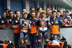 Brad Binder, Red Bull KTM Ajo, Miguel Oliveira, Red Bull KTM Ajo et toute l'équipe