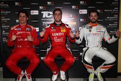 Qualifications : le deuxième, Andrea Belicchi, le poleman Pepe Oriola et le troisième, Stefano Comini