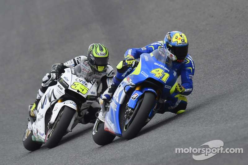 Aleix Espargaro, Team Suzuki MotoGP, und Cal Crutchlow, Team LCR Honda