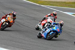 Маверик Виньялес, Team Suzuki MotoGP, Джек Миллер, Team LCR Honda и Лорис Бас, Forward Racing Yamaha