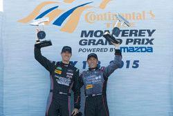 GTD winnaars: #73 Park Place Motorsports Porsche 911 GT America: Patrick Lindsey, Spencer Pumpelly