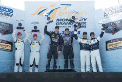 GTD Podium: Winners #73 Park Place Motorsports Porsche 911 GT America: Patrick Lindsey, Spencer Pump