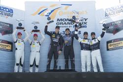 GTD Podium: Los ganadores #73 Park Place Motorsports Porsche 911 GT America: Patrick Lindsey, Spence