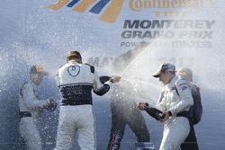 Celebraciones del podium de la GTD