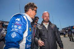 #01 Chip Ganassi Ford/Riley: Scott Pruett and #3 Corvette Racing Chevrolet Corvette C7.R: Jan Magnussen