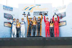 PC Podio: ganadores de carrera # 11 RSR Racing Oreca FLM09 Chevrolet: Chris Cumming, Bruno Junqueira