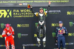 Podyum: Kazanan Petter Solberg, ikinci Reinis Nitiss, üçüncü Timmy Hansen