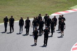Romain Grosjean, Lotus F1 Team, und Pastor Maldonado, Lotus F1 Team