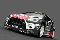 Livrée pour Kris Meeke et Paul Nagle, Citroën DS3 WRC, Citroën World Rally Team