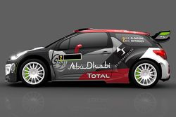 Livery for Khalid Al-Qassimi and Chris Patterson, Citroën DS3, Citroën World Rally Team