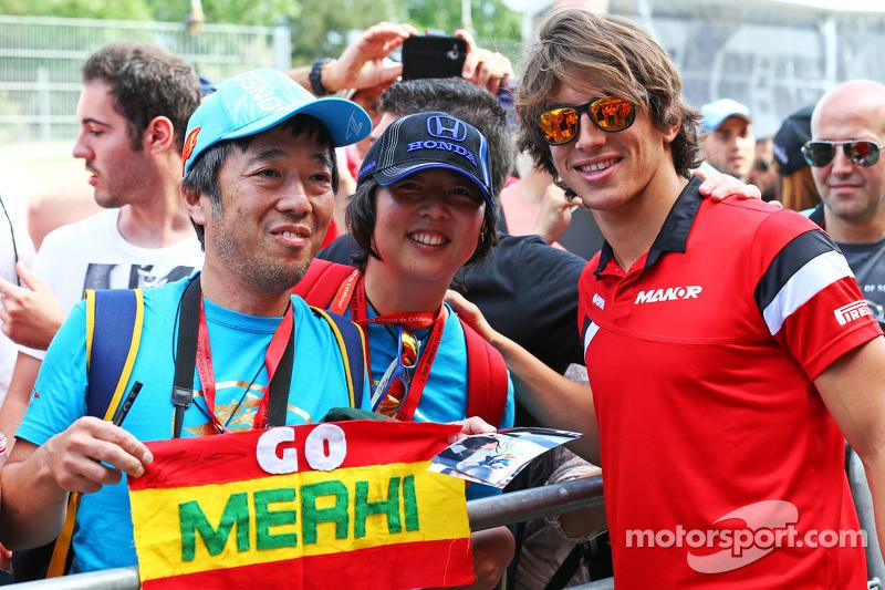 Roberto Merhi, Manor F1 Team, mit Fans