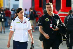 Мониша Кальтенборн, директор Sauber Team с Федерико Гастальди, Lotus F1 Team