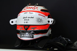 The helmet of Nico Hulkenberg, Sahara Force India F2