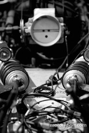 Detail of the suspension of the Spirit of Daytona Racing Pontiac Crawford