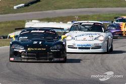 Lenny Diller (#51 Dodge Viper), James Sofronas (#14 Porsche 911 GT3)