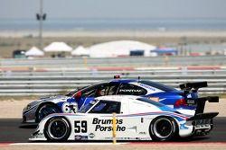 #59 Brumos Racing Porsche Riley: Hurley Haywood, JC France, Roberto Moreno, #65 TRG Pontiac GTO.R: M