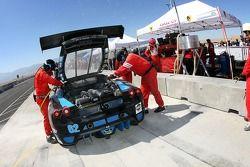 Feu dans les stands pour la Corsa GT Motorsports Ferrari F430 n°62 : Steve Pruitt, Cort Wagner, Alex Quaid