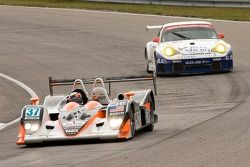 #37 Intersport Racing Lola B05/40 AER: Clint Field, Jon Field, Liz Halliday;#23 Alex Job Racing Pors