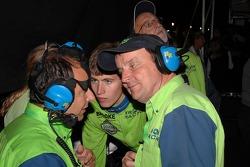 Krohn Racing team members just minutes before the checkered flag