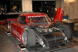 The #99 Pontiac Riley in the Gainsco/ Blackhawk Racing garage