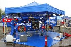 Le garage de l'équipe Kronos Total Citroën