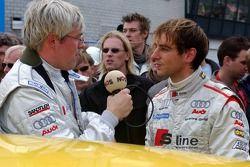 Jeroen Bleekemolen interviewed by Dutch radio press after he drove the journalist on an Audi taxiride
