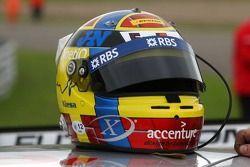 The helmet of Nicolas Kiesa