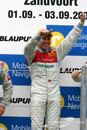 Podium: race winner Tom Kristensen