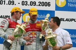 Podium: race winner Tom Kristensen and Martin Tomczyk