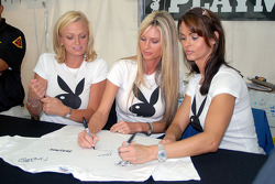 Playboy Playmates Laurie Fetter, Stephanie Glasson and Karen McDougal