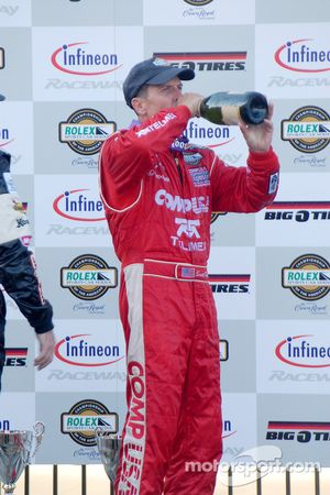 DP Podium: champagne for Scott Pruett