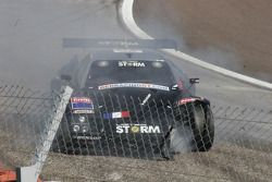 Accident pour la Lister Storm #19 Red Racing : Romain Yvon, Romain Brandela