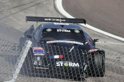 Accident pour la Lister Storm #19 Red Racing : Romain Yvon, Romain Brandela