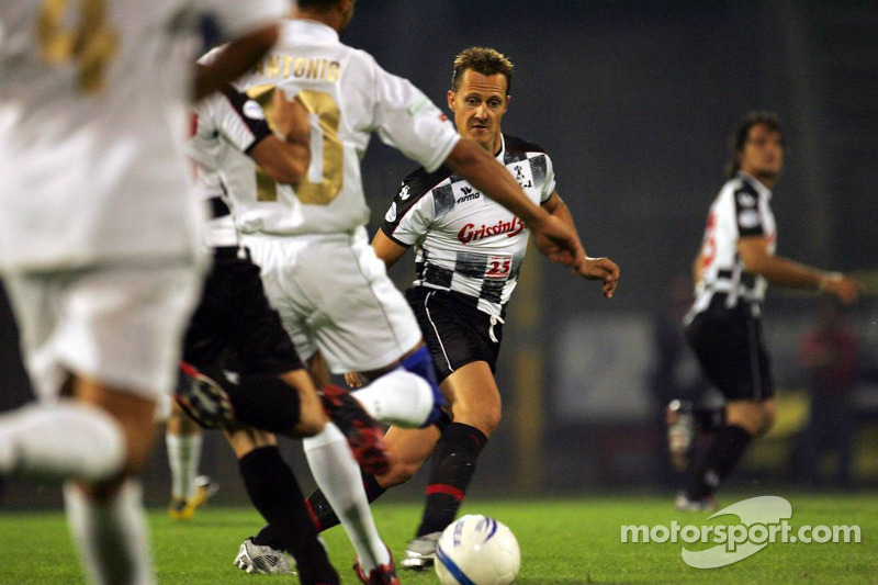 National pilotu s charity football match, Stadio Brianteo Stadio Brianteo: Michael Schumacher