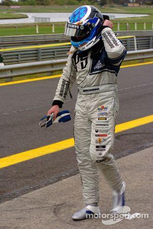 Jason Bargwanna heads back to the garage