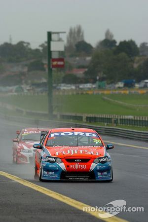 Tony Ricciardello beind the wheel of the Fujitsu Racing car