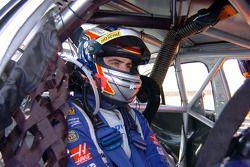Alex Davison waits for the start