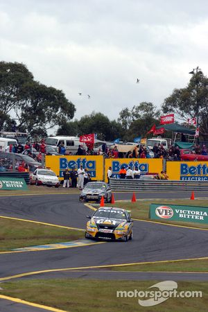 Mark Winterbottom at the back of the circuit