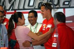 Michael Schumacher ve Michelle Yeoh