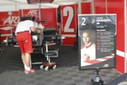 Lewis Hamilton car is prepared