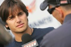 Nelson A. Piquet gives an interview to Peter Windsor of Speed TV